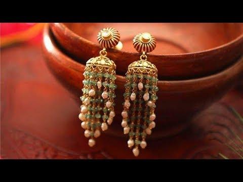 Indian Beaded Jhumka Designs