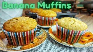 Banana Muffins Recipe  Moist, Soft and Fluffy  Chibogan Na