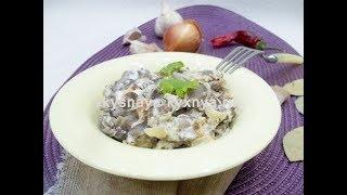 Грибы в сметанном соусе по-домашнему на сковороде – вкусно, быстро, просто!
