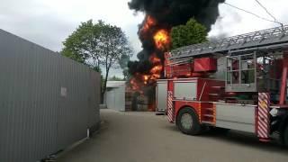 Пожар в Минске на улице Славинского 1а