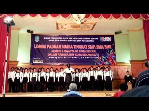 Padusmansasi @ 2014 Bekasi Choir Competition (Mars Kota Bekasi & Sabda Alam)
