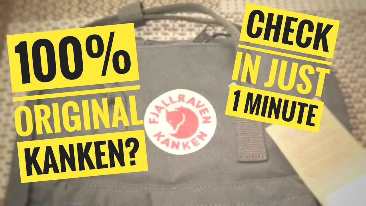 How to spot real vs fake Fjällräven Kånken