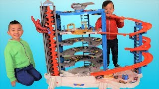 Biggest HOT WHEELS Super Ultimate Garage playset Unboxing Fun With Ckn Toys