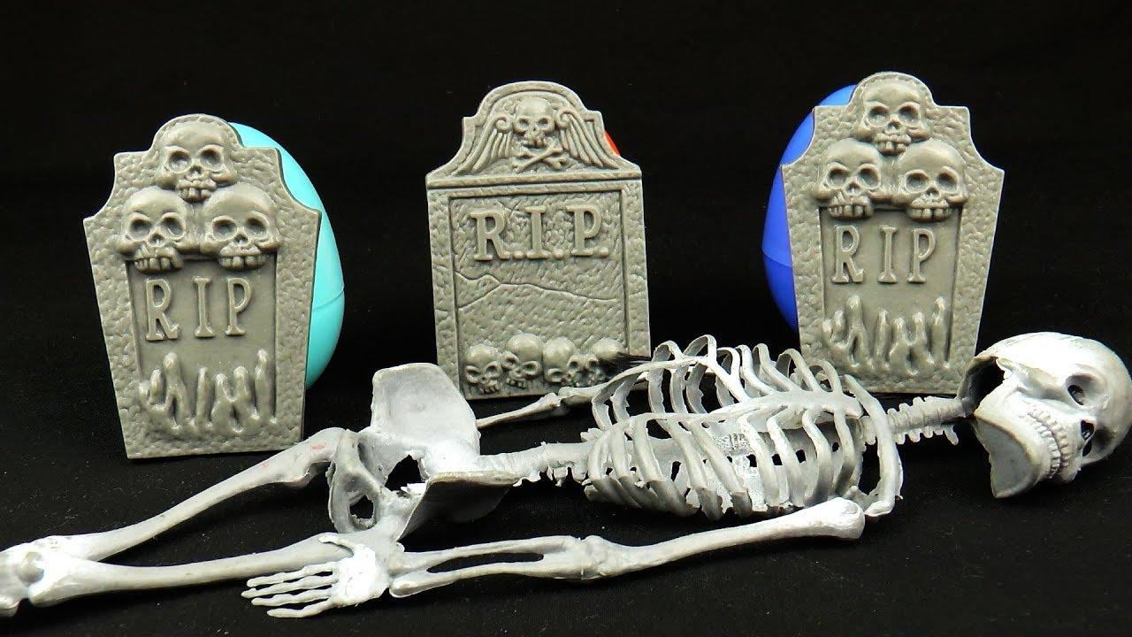 Kinder Egg With Toy Toy Skeleton Haunted Toys Surprise Kinder Eggs Spooky