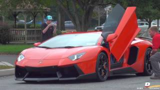 Exotic Cars Arriving to Driven By Purpose 2014 // Part 6
