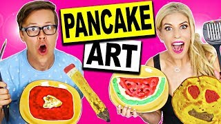 DIY BACK TO SCHOOL PANCAKE ART CHALLENGE!!