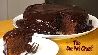 Dark Chocolate Mud Cake | One Pot Chef