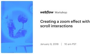 Creating a zoom effect with scroll interactions