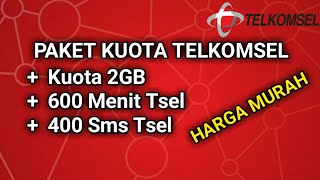 Promo KUOTA TELKOMSEL 2GB +600 Menit +400 SMS