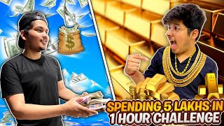 Giving Jash ₹5,00,000 To Spend In One Hour Challenge || With A Twist - Two Side Gamers Vlog #3