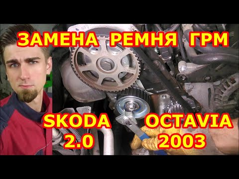 ЗАМЕНА РЕМНЯ ГРМ / SKODA OCTAVIA 2.0 2003 / CHANGING THE TIMING BELT