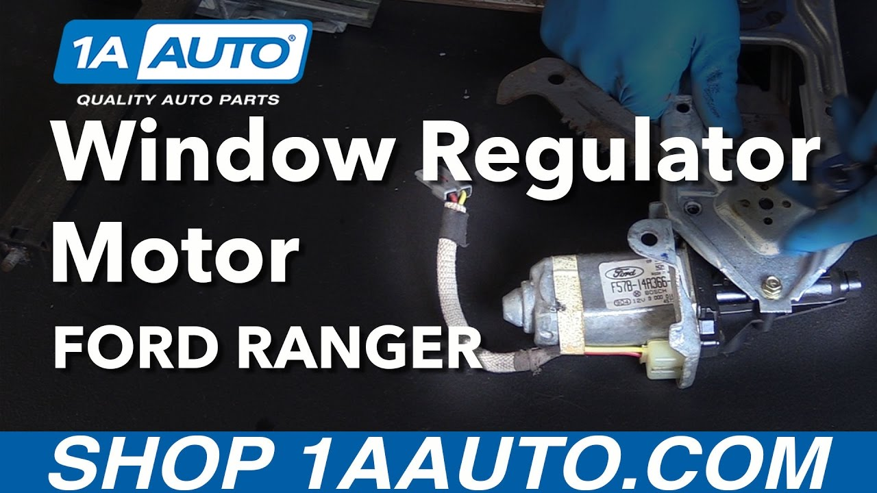 hight resolution of how to replace front power window regulator motor 93 09 ford ranger