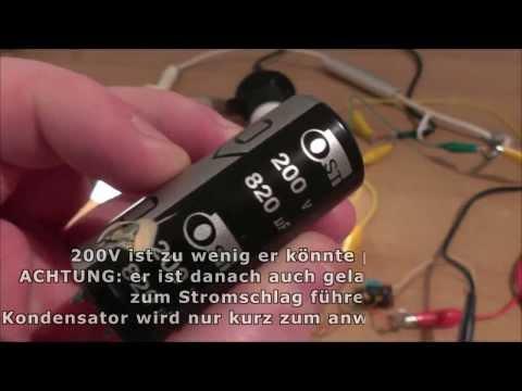 2x 230V Lampen An Zwei AAA-Batterien - Fotoapperat Schwingkreis Als Joulethief Nutzen