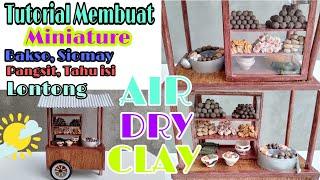 DIY  Air Dry Clay | Miniature clay food