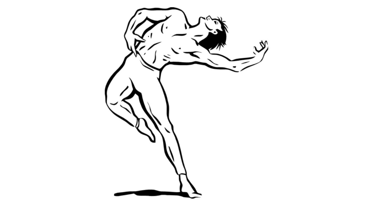 How To Draw A Male Ballerina Drawing Of A Male Ballet Dancer Youtube