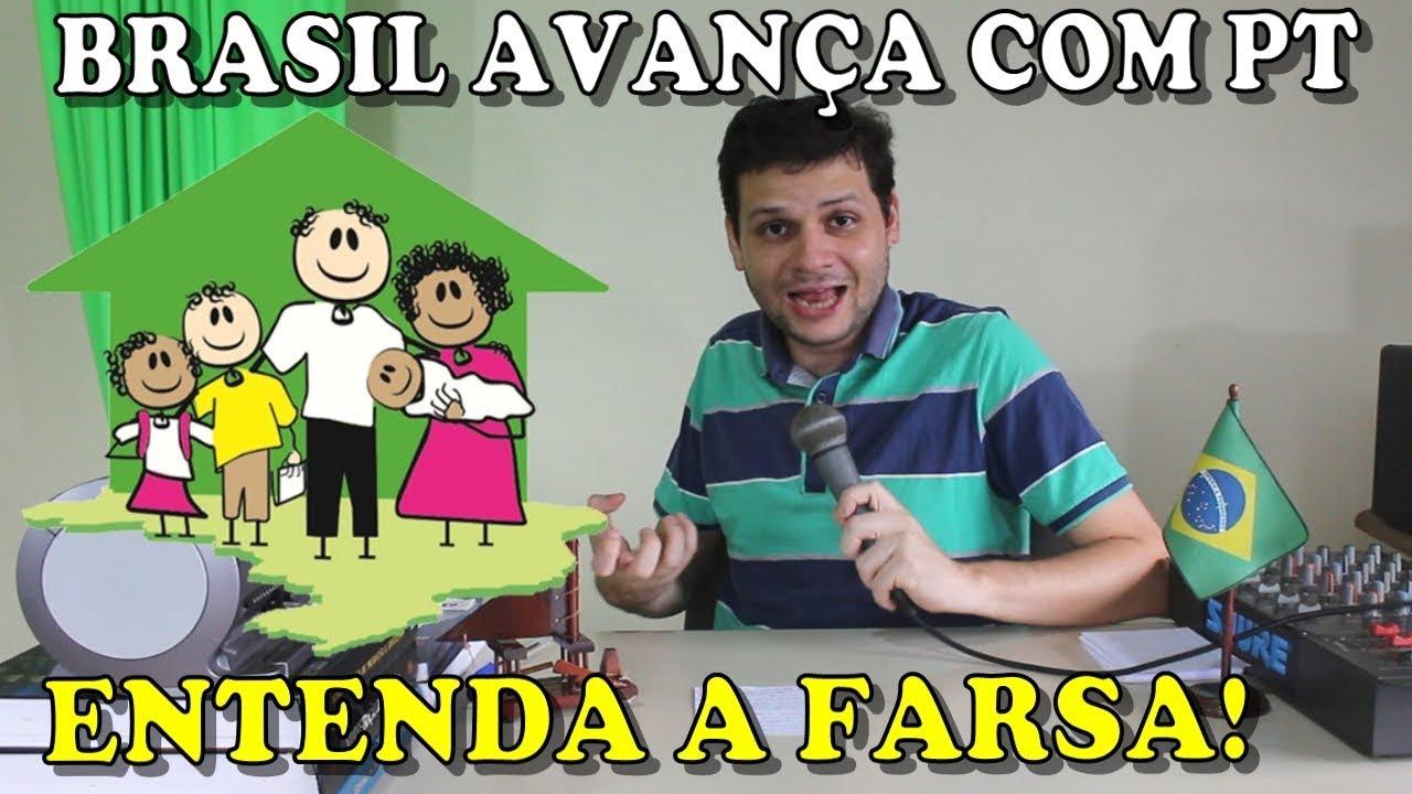 Brasil avançou com programas sociais do PT. Entenda a farsa!