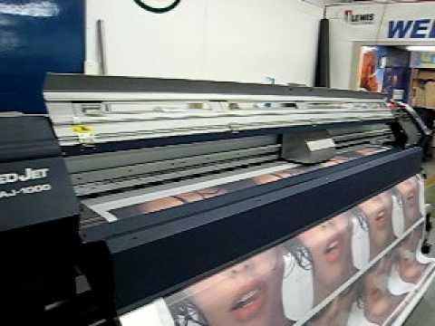 Roland Aj 1000 Grand Large Format Printer