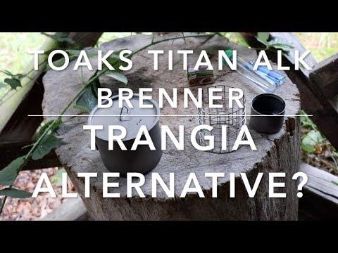 Alkohol-Titan-Brenner von Toaks: Eine Alternative zum Trangia-Brenner.