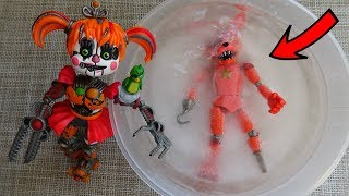 FNAF 6 Action Figures - Rockstar Foxy And Frozen Hook