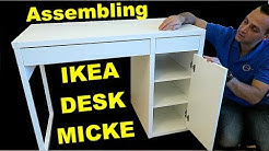 Ikea MICKE desk assembly