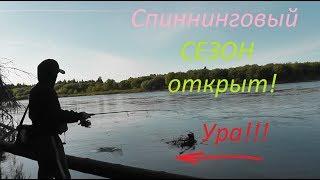 СПИННИНГОВЫЙ СЕЗОН ОТКРЫТ! Ура... Отличная рыбалка на берегу реки - Б.Р.№682
