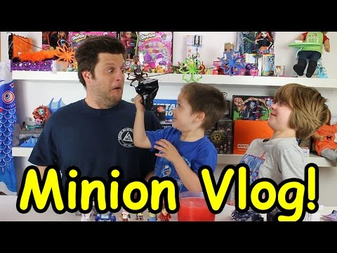 Opening Blinds Minion Vlog(transformers, pokemon, doctor who