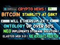 BITCOIN price around $8k! ETHEREUM to 2x? ONTOLOGY growth! ELASTOS WEB 3.0 !
