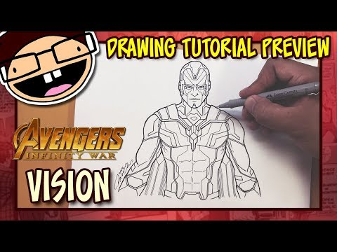 [PREVIEW] How to Draw VISION (Avengers: Infinity War) | Drawing Tutorial Time Lapse