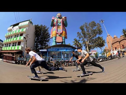 Street Skating and Dodging Tuks Tuks in Bangalore | The Curry Connection EP 2