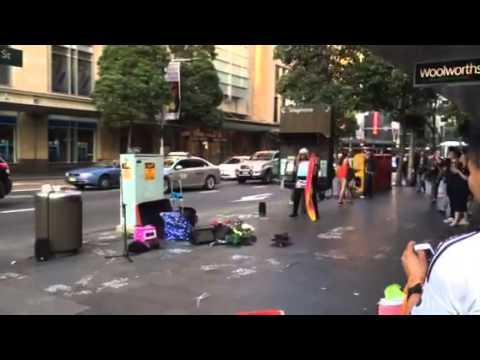 Sydney busking - karaoke