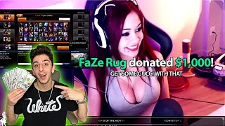 Donating $1,000 to RANDOM TWITCH STREAMERS!! (EMOTIONAL)