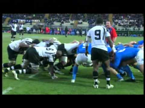 Rugby Italia vs Fiji (24-16) Test Match 2010 2° Tempo