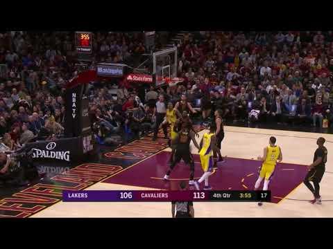 Cavs vs. Lakers 4th Quarter Highlights 12/14/17