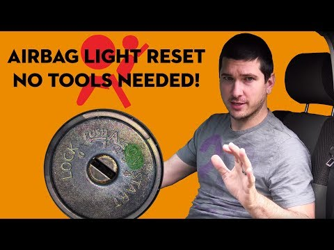 How To Reset The Air Bag Warning Light On A Nissan EASY! No Tools Required!!