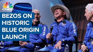 Jeff Bezos on historic Blue Origin launch: First step to build road to space