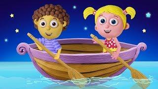 Row Row Row Your Boat | Nursery Rhymes | Polly Olly