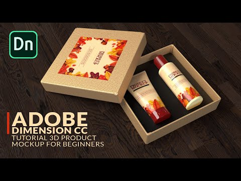 Adobe Dimension CC Tutorial: 3D Product Packaging Presentation Mockups For Beginners