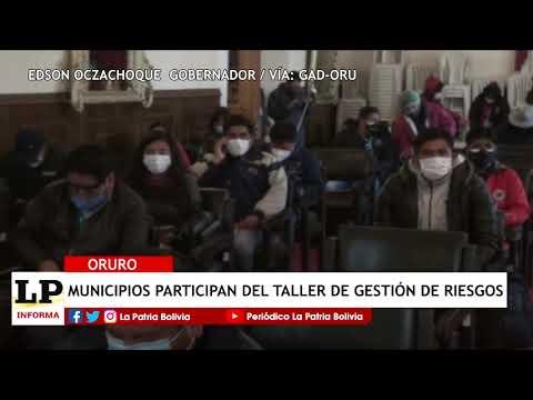 Municipios de Oruro participan de taller...