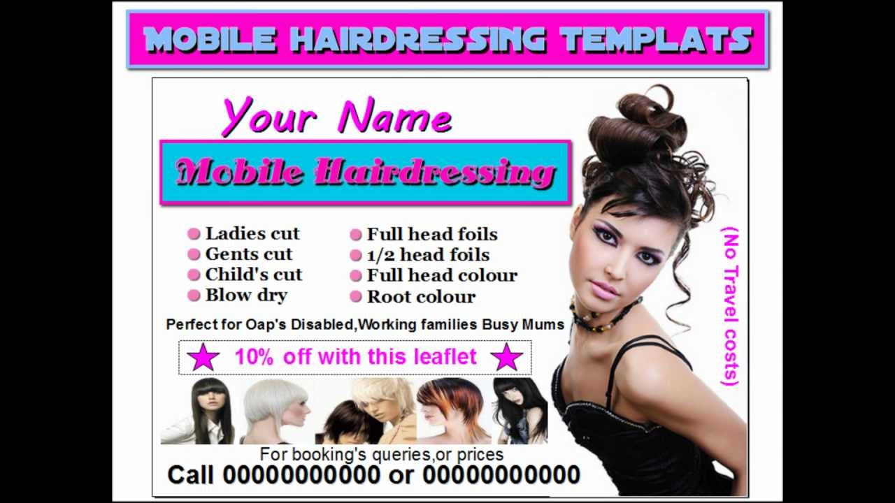Quot Mobile Hairdressing Leaflets Quot Quot Mobile Hairdressing Flyers