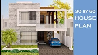 luxury House Interior Design Ideas||30×60 House Plan with complete Detail in Hindi/urdu