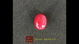 Đá Ruby Tự Nhiên Yên Bái 7,85Carat, Đỏ Đậm, Chất Kính, Làm Mặt Nhẫn