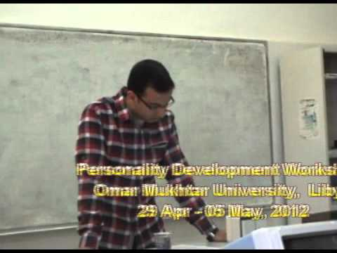 Personality development workshop, faculty of engineering , Libya : participants feedback one
