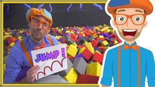 Jumping Animals for Kids by Blippi | Learn at an Indoor Trampoline Park