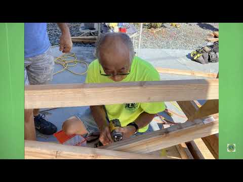 Lions Club of Kona constructing picnic benches for Konawaena Elementary School