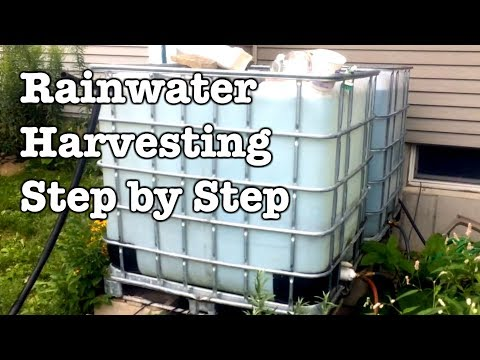 Rainwater Collection - Step by Step installation of IBC totes
