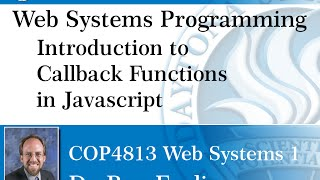 Web Programming - Javascript - Introduction to Callback Functions