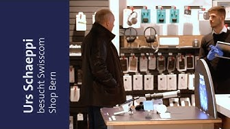 CEO Urs Schaeppi zu Besuch im Swisscom Shop in Bern