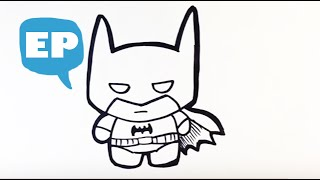 How to Draw Cute Batman - Easy Pictures to Draw