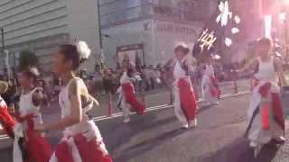 水戸黄門祭りパレードの様子.