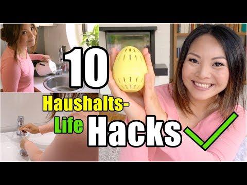 10 LIFE HACKS die deinen Alltag erleichtern! Tipps & Tricks für Haushalt + Putzen | Mamiseelen